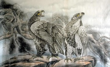 Bird Painting - Chinese eagles birds