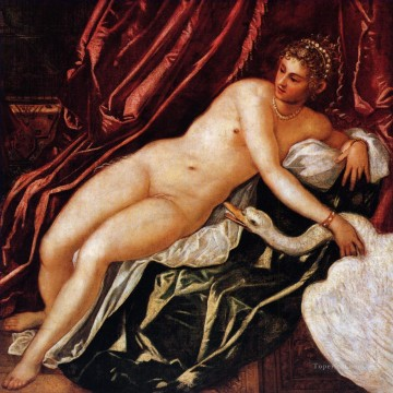 renaissance Painting - Leda and the swan Italian Renaissance Tintoretto birds