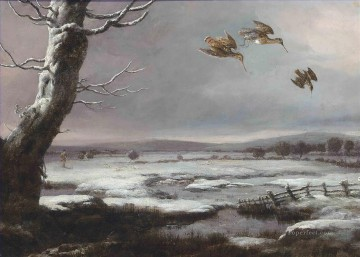 Snipe shooting Philip Reinagle birds Oil Paintings