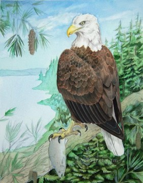 Animal Painting - bald eagle thesis birds