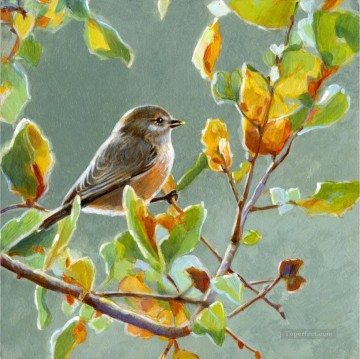 bushtit birds Oil Paintings