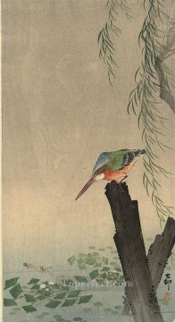 Bird Painting - kingfisher Ohara Koson birds
