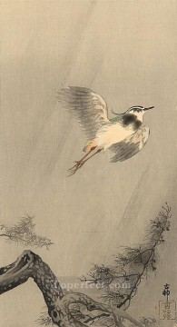 Animal Painting - lapwing Ohara Koson birds