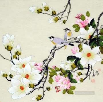 Chinese bird flower works Oil Paintings