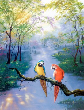 JW colors of rainbow birds Oil Paintings