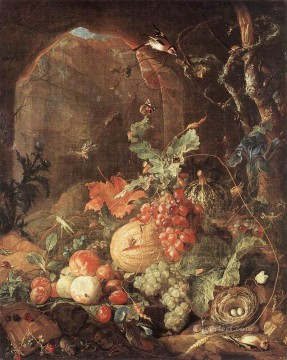 Animal Painting - Still Life With Bird Nest Dutch Baroque Jan Davidsz de Heem
