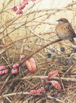 Nature Painting - nature winter birds
