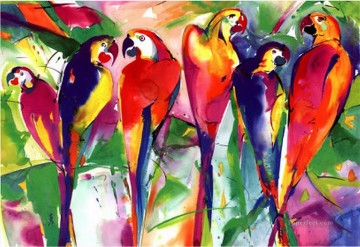 Bird Painting - parrot family birds