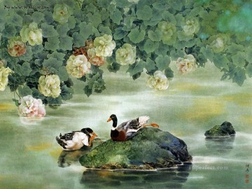 Chinese flower painting birds Oil Paintings