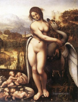 Vinci Oil Painting - Leda and the Swan 1505 Leonardo da Vinci birds