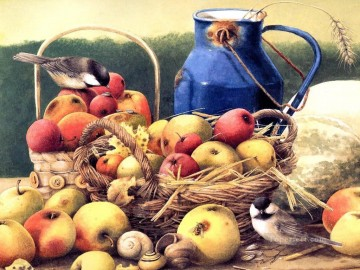 Apples Art - birds and apples
