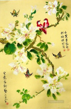 butterfly Painting - blossom flowers birds butterfly Chinese