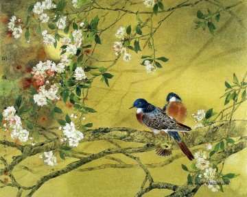 Chinese painting bird flower drunk in Spring Oil Paintings