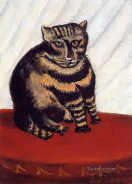 Animal Painting - the tabby Henri Rousseau kitten