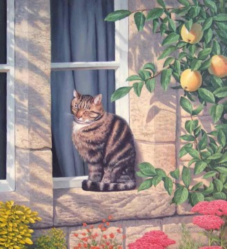 A Sunny Spot cats Oil Paintings