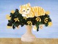 Donna Masters Kriebel cat on vase