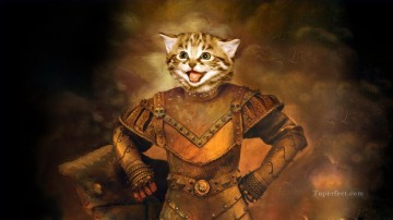 cat general Oil Paintings
