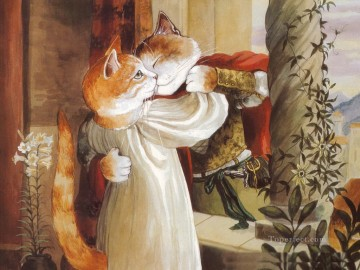 Cat Painting - cat lover Susan Herbert