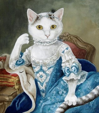 Animal Painting - cat princess Susan Herbert