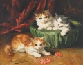 Cat painting 8 Alfred Brunel de Neuville