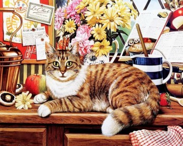 Animal Painting - GT 005 kitten