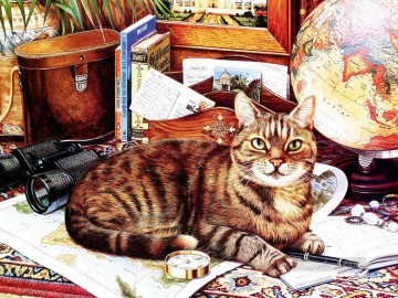 GT 006 kitten Oil Paintings
