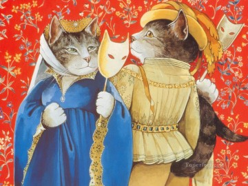 cat cats Painting - Shakespeare Cats