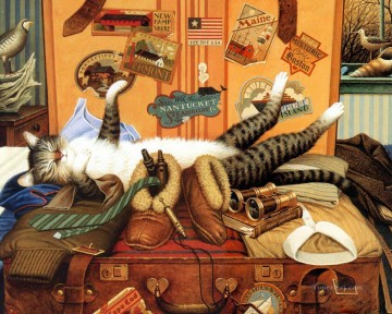 Cat Painting - charles wysocki kitten