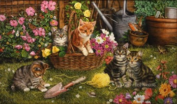 Cat Painting - Kittens Geoffrey Tristram