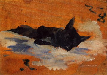 Dog Painting - little dog 1888 Toulouse Lautrec Henri de