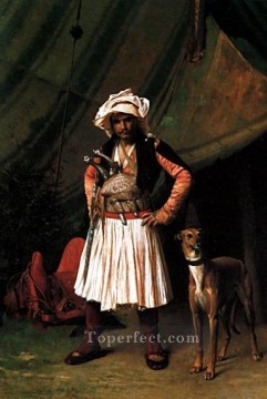 Animal Painting - BashiBazouk and his Dog Greek Arabian Orientalism Jean Leon Gerome