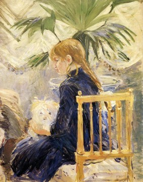 Animal Painting - Berthe Morisot Girl with Dog