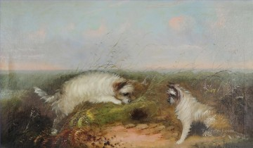 Animal Painting - Landing the Catch Samuel Bough landscape dog