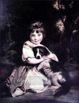 Dog Painting - Love me love my dog Joshua Reynolds