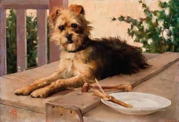 Animal Painting - Lucien Henry The Dog 1890