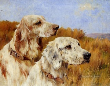 Dog Painting - Two Setters animal Arthur Wardle dog