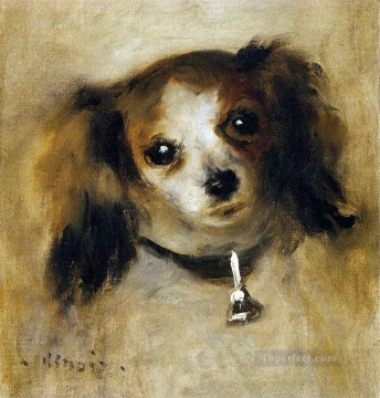 Dog Painting - head of a dog Pierre Auguste Renoir