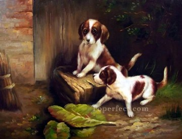 Dog Painting - dw024cD doggies