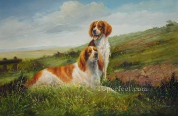 Dog Painting - dw052cD doggies