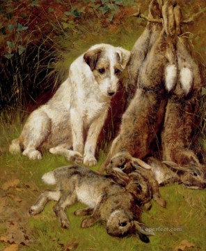 Dog Painting - The Days Bag animal Arthur Wardle dog