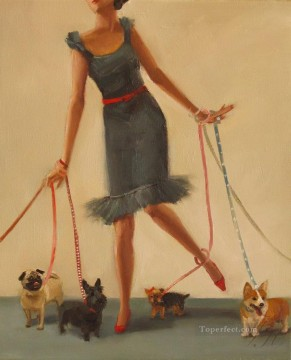 Entanglement puppy Oil Paintings