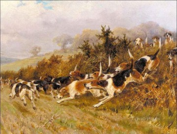 hunting Canvas - hunting dogs
