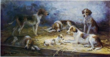 dogs playing poker Painting - ami0001D15 animal dogs