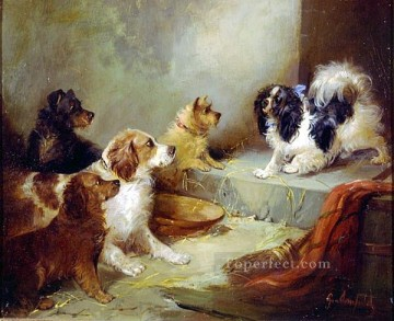 dogs playing poker Painting - ami0002D15 animal dogs