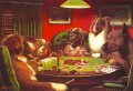 Dogs Playing Poker red