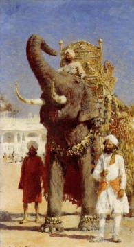 edwin lord weeks the rajahs elephant Oil Paintings