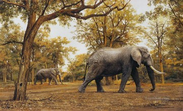 Animal Painting - elephant meander