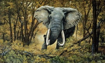 Animal Painting - elephant mock