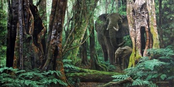 Animal Painting - forest elephants