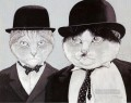 cats in suits facetious humor pet